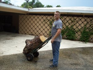If we can't get to it with the bobcat, we'll use a hand cart! Whatever it takes!